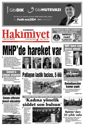 9 mart.qxd - Çorum Hakimiyet Gazetesi