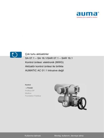 Çok turlu aktüatörler SA 07.1 – SA 16.1/SAR 07.1 – SAR 16.1