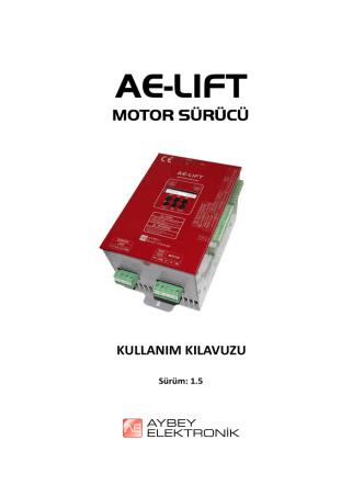 AE-LIFT Kullanım Kılavuzu