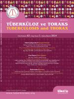 içindekiler - Tuberkuloz ve Toraks Dergisi