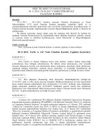Kasım Faaliyet Raporu - Rize Ticaret ve Sanayi Odası