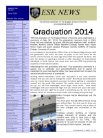 Graduation 2014 ESK NEWS - The English School of Kyrenia.