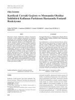Kardiyak Cerrahi Geçiren ve Monoamin Oksidaz