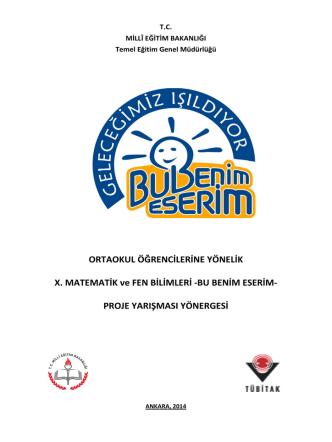 BU BENİM ESERİM - Hatay İl Milli Eğitim Müdürlüğü