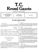 KARARNAME E - Resmi Gazete