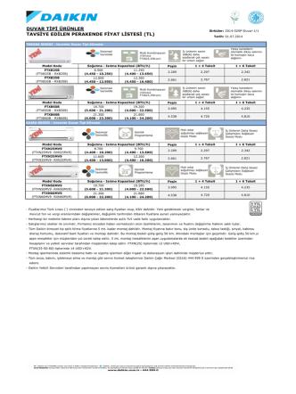 20140107-Daikin Fiyat Listesi Intema