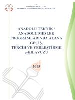 ANADOLU TEKNİK / ANADOLU MESLEK PROGRAMLARINDA