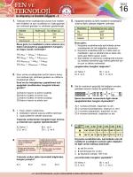 Test 16 - Fen Okulu