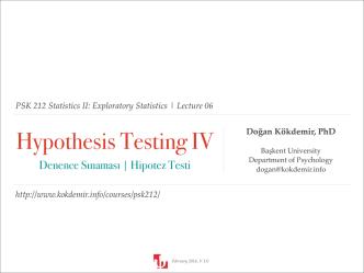 06 - Hypothesis Testing IV.key