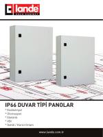 IP66 Duvar Tipi Panoları Katalog Pdfi Görüntüle