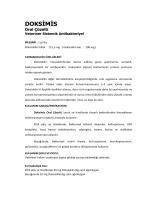 Doksimis - Mistav İlaç