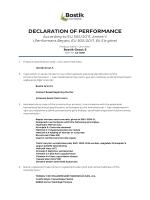 declaratıon of performance