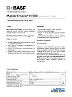 MasterEmaco® N 600 (Eski Adı EMACO® R 600