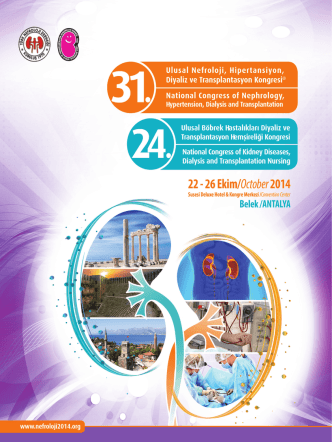 1 31st National Congress of Nephrology, Hypertension, Dialysis and