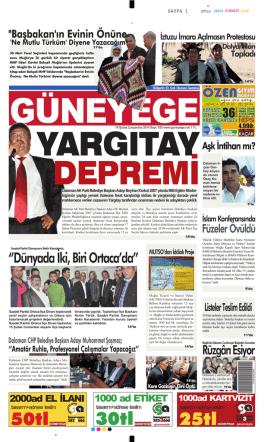 19 Şubat 2014 - Güney Ege Gazetesi