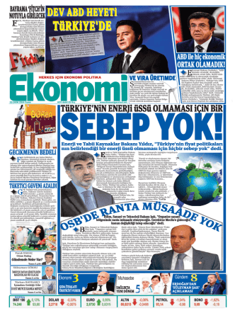 3 EKİM 2014 - Ekonomi Gazetesi