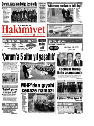 28 ocak.qxd - Çorum Hakimiyet Gazetesi
