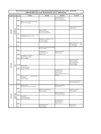 BÜTÜNLEME 2014-2015 (1)-19.01.2015
