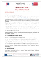 Erasmus+ Okul Eğitimi Genel Konularda Sıkça Sorulan Sorular