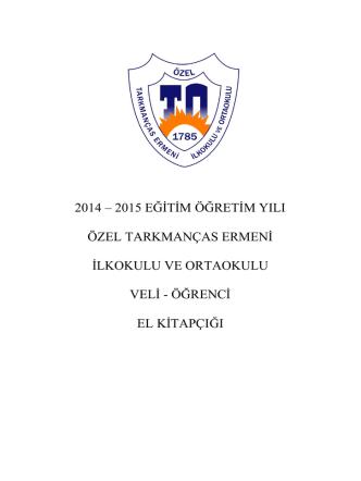 2014-2015 Veli Öğrenci El Kitabı