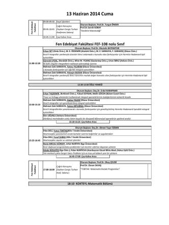 13 Haziran 2014 Cuma - Atılım Üniversitesi