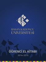 öğrenci el kitabı - Hasan Kalyoncu Üniversitesi