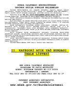 08.01.2015 Tarihli Yerinde Satış Hurda Malzeme İhale listesi (II