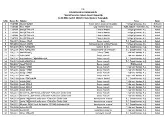 12.07.2014 tarihli 2014-13 Nolu Gündem Tutanağı
