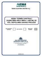 HEMA TERMİK SANTRALİ 2X(660 MWe-669,4 MWm