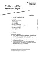Türkler icin Münih Hakkinda Bilgiler