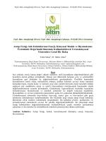 Antep Fıstığı Atık Kabuklarının Enerji, Kimyasal Madde