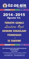 KONU DAĞILIMI Yayın Tanıtım 2014-15 - Öz-De-Bir