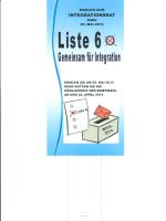 """""""Liste 6ßl - Integration in Bonn"""