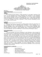 Yönetmelikler 2014 - Bayındır Belediyesi