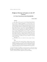 Religious Puritans in Sarajevo in the 18th Century1