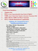 FPGA ve VHDL Kursu Açılıyor... - Düzce Üniversitesi