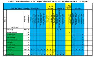 2015 şubat döneminde kalfalık sınavına girenlerin listesi