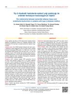 Tip 2 diyabetli hastalarda epikart yağ yastıkçığı ile endotel fonksiyon