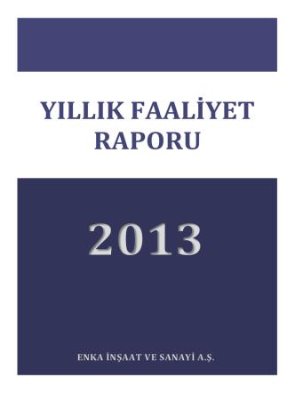 2013 yıllık raporu