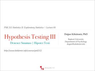 05 - Hypothesis Testing III.key