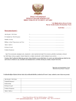 Veli Bilgilendirme Beyan Formu - ipek üniversitesi öğrenci işleri