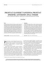 PDF - Prostat Kanseri Tanısında Prostat Spesifik Antijenin (PSA)