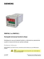 RWF50.2 ve RWF50.3 Kompakt üniversal kontrol cihazı
