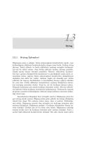 String 13.1 String İşlemleri