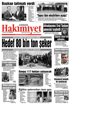 (18 eyl\374l.qxd) - Çorum Hakimiyet Gazetesi