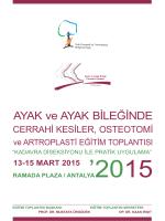 AYAK ve AYAK BİLEĞİNDE - TOTBİD | Türk Ortopedi ve