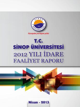 2012 Yılı İdare Faaliyet Raporu