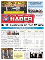 Gazete 62 - Denizli Ticaret Odası