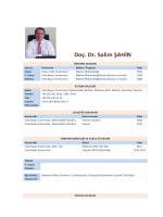 Doç. Dr. Salim ŞAHİN - Celal Bayar Üniversitesi