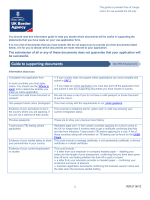 Guide to supporting documents: non PBS employment